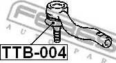 Febest TTB-004 - Ремкомплект, наконечник поперечной рулевой тяги sparts.com.ua