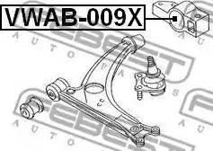Febest VWAB-009X - Сайлентблок, рычаг подвески колеса sparts.com.ua