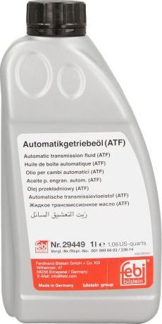Febi Bilstein 29449 - Масло автоматической коробки передач sparts.com.ua