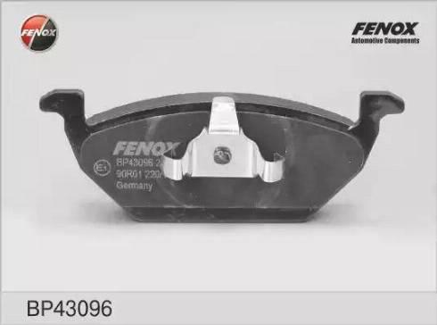 Fenox BP43096 - Тормозные колодки, дисковые sparts.com.ua