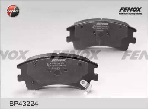 Fenox BP43224 - Тормозные колодки, дисковые sparts.com.ua
