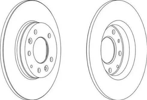 Ferodo DDF1500 - Тормозной диск sparts.com.ua