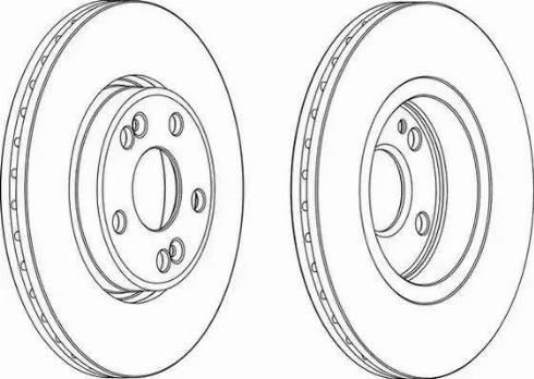 Ferodo DDF1123 - Тормозной диск sparts.com.ua