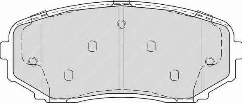 Ferodo FDB4365 - Тормозные колодки, дисковые sparts.com.ua