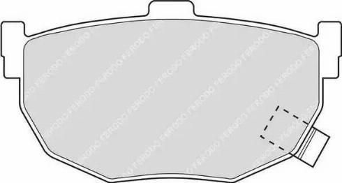 Ferodo FDB638 - Тормозные колодки, дисковые sparts.com.ua