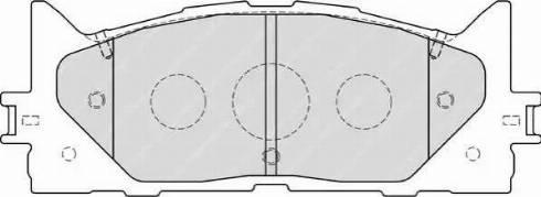 Ferodo FDB1991 - Тормозные колодки, дисковые sparts.com.ua