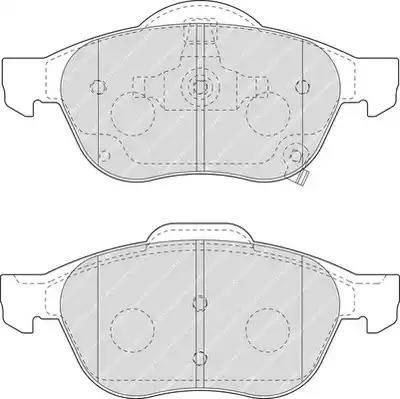 Ferodo FDB1447 - Тормозные колодки, дисковые sparts.com.ua
