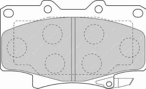 Ferodo FDB1502 - Тормозные колодки, дисковые sparts.com.ua