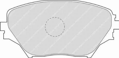 Ferodo FDB1514 - Тормозные колодки, дисковые sparts.com.ua
