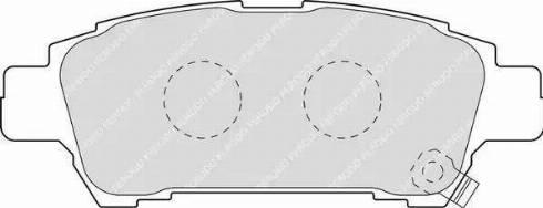 Ferodo FDB1530 - Тормозные колодки, дисковые sparts.com.ua