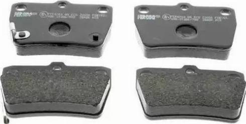 Ferodo FDB1531 - Тормозные колодки, дисковые sparts.com.ua