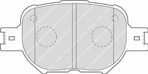 Ferodo FDB1528 - Тормозные колодки, дисковые sparts.com.ua