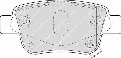 Ferodo FDB1649 - Тормозные колодки, дисковые sparts.com.ua