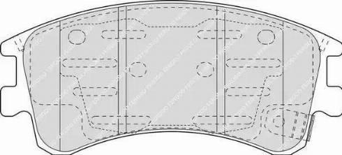 Ferodo FDB1619 - Тормозные колодки, дисковые sparts.com.ua