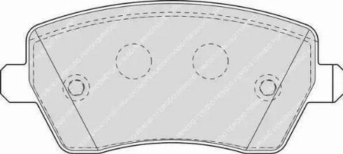 Ferodo FDB1617 - Тормозные колодки, дисковые sparts.com.ua