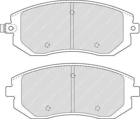 Ferodo FDB1639 - Тормозные колодки, дисковые sparts.com.ua