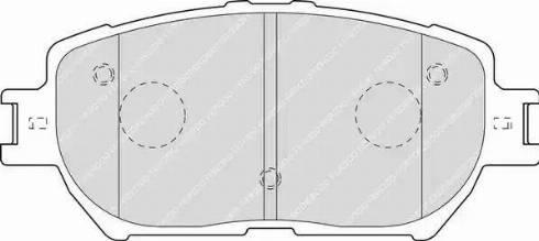 Ferodo FDB1620 - Тормозные колодки, дисковые sparts.com.ua