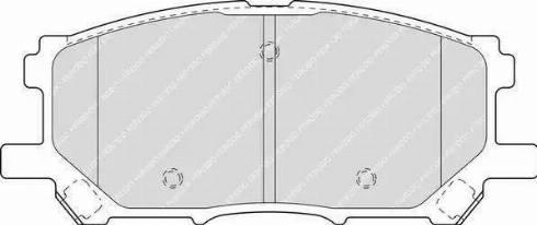 Ferodo FDB1715 - Тормозные колодки, дисковые sparts.com.ua
