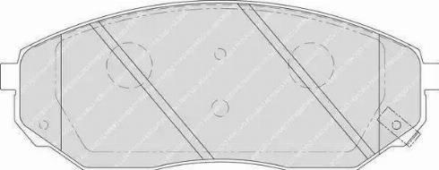 Ferodo FDB1735 - Тормозные колодки, дисковые sparts.com.ua