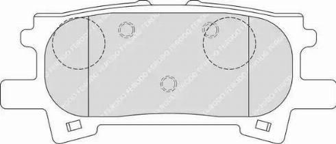 Ferodo FDB1731 - Тормозные колодки, дисковые sparts.com.ua