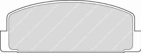 Ferodo FDB372 - Тормозные колодки, дисковые sparts.com.ua