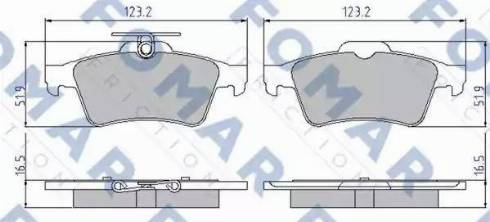 FOMAR Friction FO 926381 - Тормозные колодки, дисковые sparts.com.ua