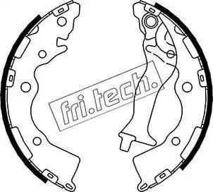 Fri.Tech. 1046.218 - Комплект тормозных башмаков, барабанные sparts.com.ua