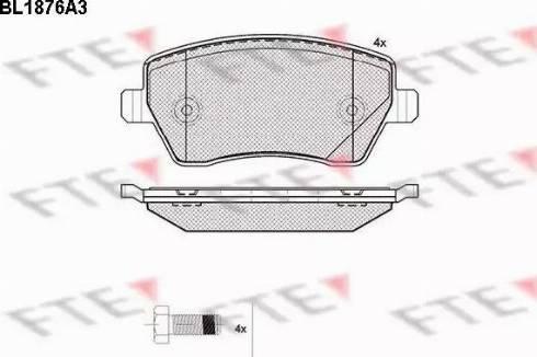 FTE BL1876A3 - Тормозные колодки, дисковые sparts.com.ua