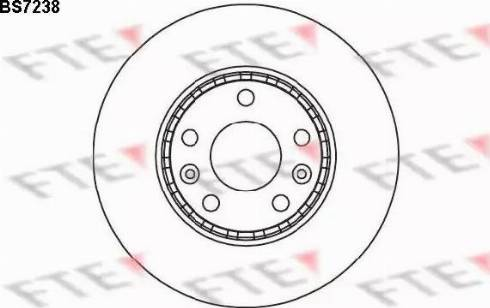 FTE BS7238 - Тормозной диск sparts.com.ua
