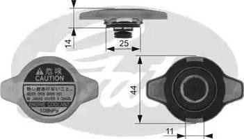Gates RC134 - Крышка, радиатор sparts.com.ua
