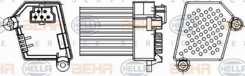 HELLA 5HL351311521 - Регулятор, вентилятор салона sparts.com.ua