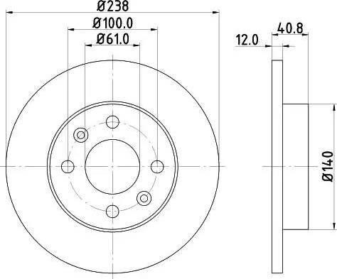 HELLA 8DD 355 101-241 - Тормозной диск sparts.com.ua