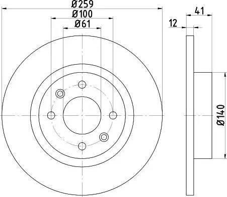 HELLA 8DD 355 115-271 - Тормозной диск sparts.com.ua