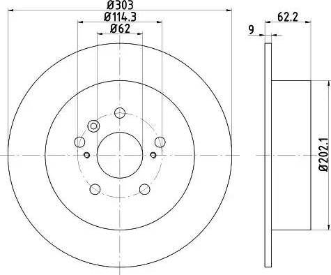 HELLA 8DD 355 118-721 - Тормозной диск sparts.com.ua