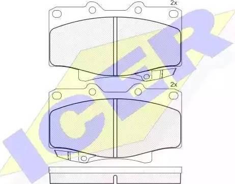 Icer 141026 - Тормозные колодки, дисковые sparts.com.ua
