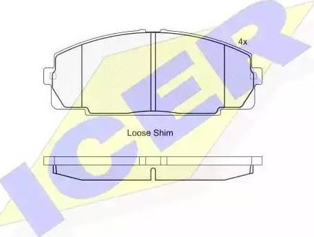 Icer 141170 - Тормозные колодки, дисковые sparts.com.ua