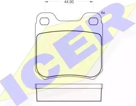 Icer 180692 - Тормозные колодки, дисковые sparts.com.ua