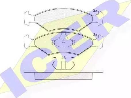 Icer 180329 - Тормозные колодки, дисковые sparts.com.ua