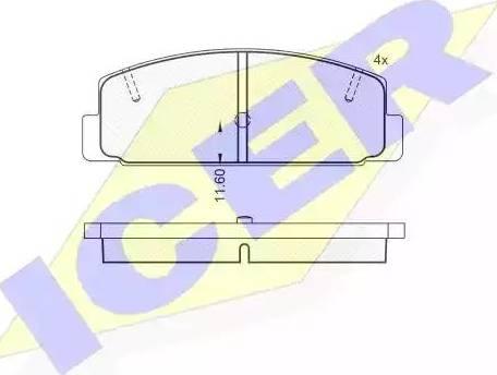 Icer 180785 - Тормозные колодки, дисковые sparts.com.ua