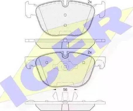 Icer 181919 - Тормозные колодки, дисковые sparts.com.ua