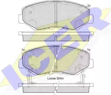 Icer 181558 - Тормозные колодки, дисковые sparts.com.ua