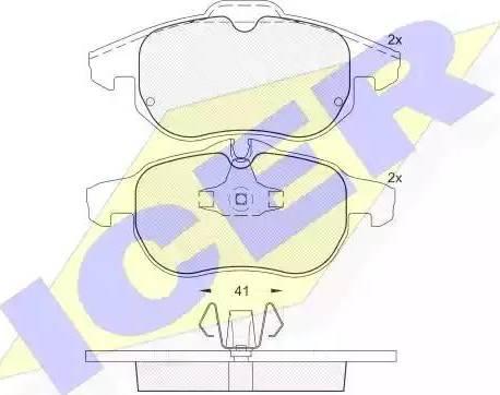 Icer 181536 - Тормозные колодки, дисковые sparts.com.ua