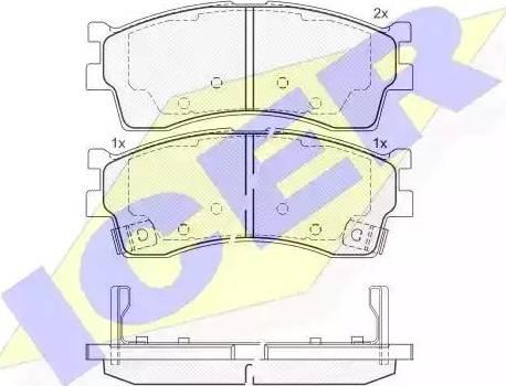 Icer 181610 - Тормозные колодки, дисковые sparts.com.ua