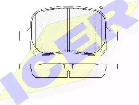 Icer 181632 - Тормозные колодки, дисковые sparts.com.ua