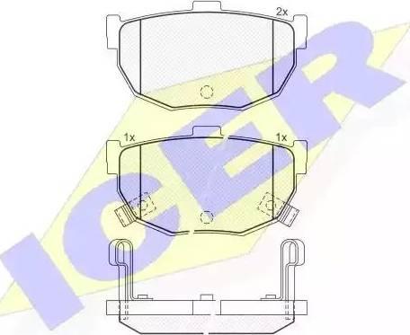 Icer 181144 - Тормозные колодки, дисковые sparts.com.ua