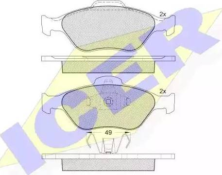 Icer 181343 - Тормозные колодки, дисковые sparts.com.ua