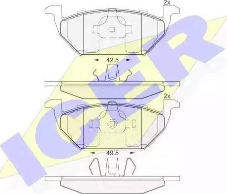 Icer 181338 - Тормозные колодки, дисковые sparts.com.ua