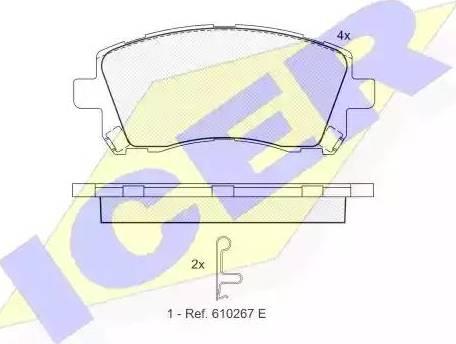 Icer 181247 - Тормозные колодки, дисковые sparts.com.ua