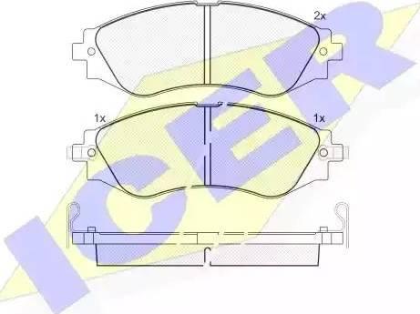 Icer 181260 - Тормозные колодки, дисковые sparts.com.ua