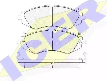Icer 181263 - Тормозные колодки, дисковые sparts.com.ua